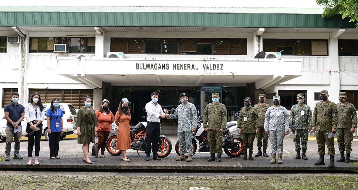 Delbros Group donates 12 new KTM motorcycles to the PNP & AFP